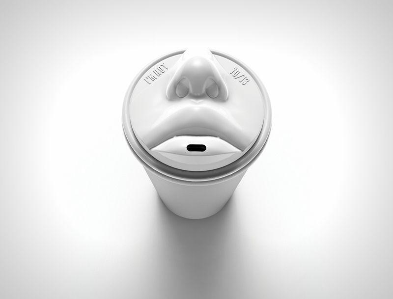 Lip-Locking Coffee Cups