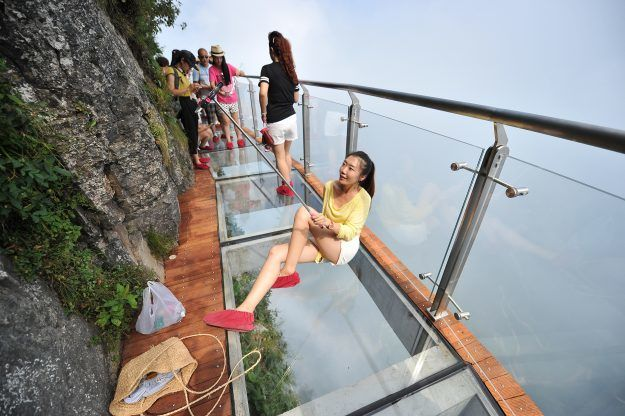 Transparent Cliffside Walkways
