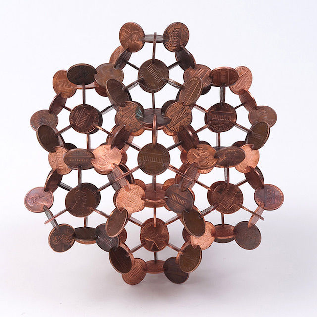 Mathematical Coin Sculptures