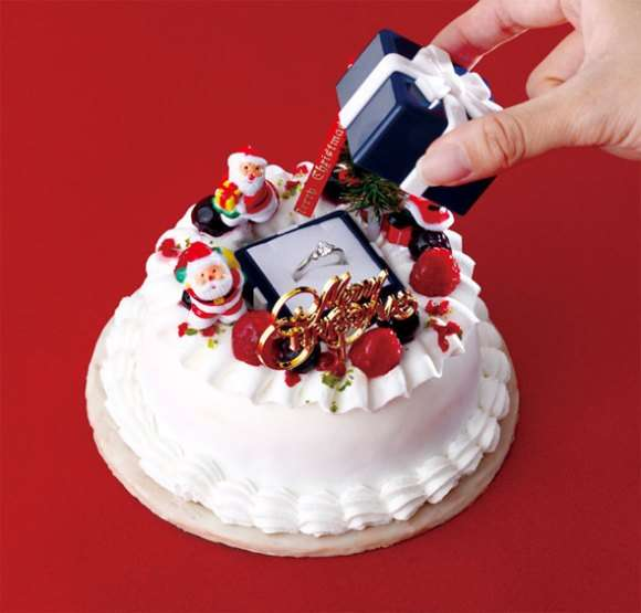 Question Popping Holiday Desserts Cold Stone Christmas Proposal Cake