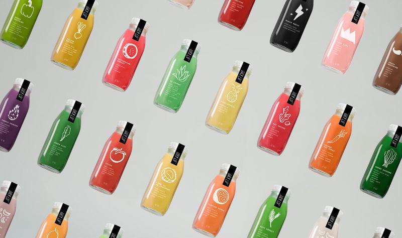 Whimsical Juice Packaging