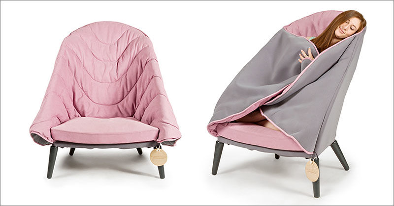 Blanket-Embedded Armchairs