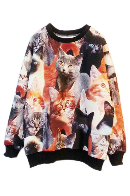 Collaged Cat Sweaters