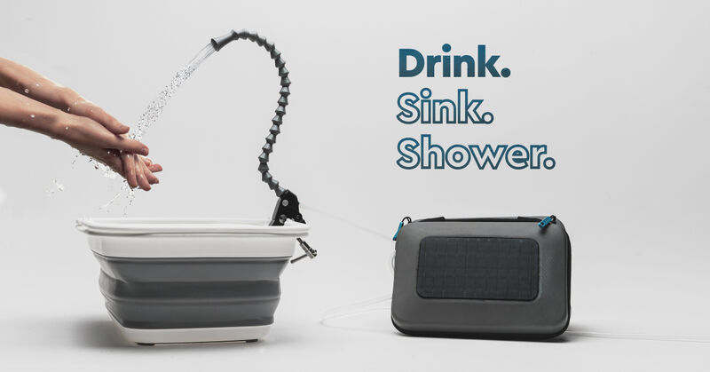 Solar-Powered Collapsible Sinks