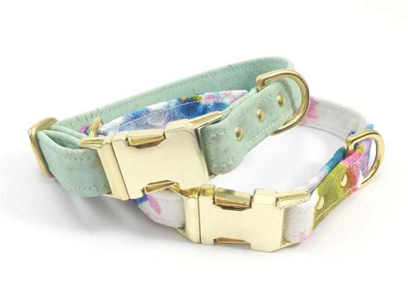 Cork Leather Pet Collars