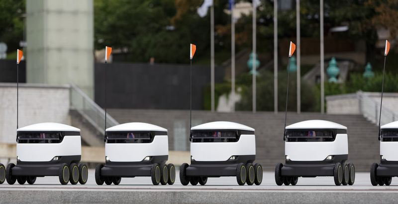 Collegiate Food Delivery Robots