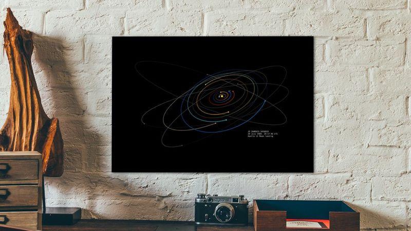 Celestial Coordinate Artwork