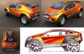 Color Changing Concept Car