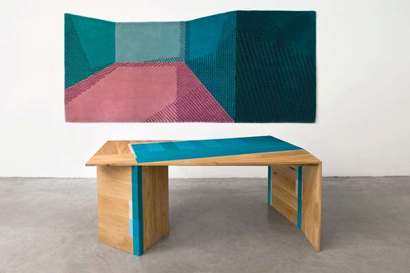 Geometrically Painted Furniture