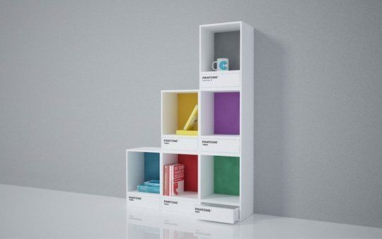 Color Swatch Shelves