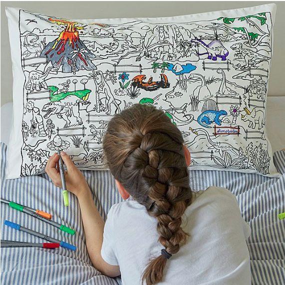 Dinosaur-Themed DIY Pillowcases