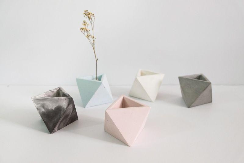 Colored Concrete Vases