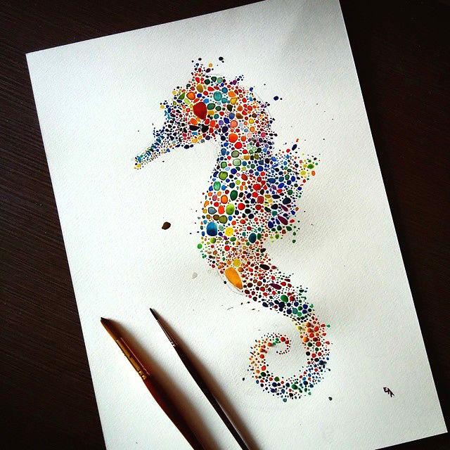 Animalistic Dot Art