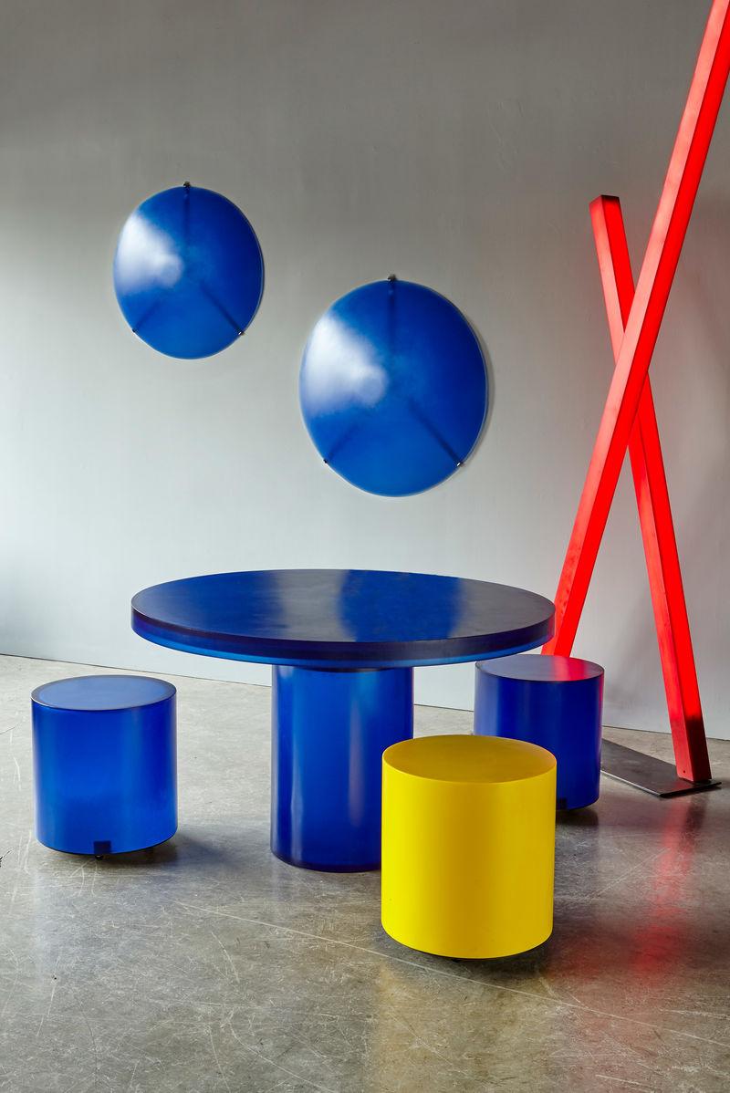 Resin-Based Geometric Furniture