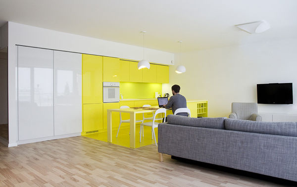 Cheerful Color-Blocked Apartments