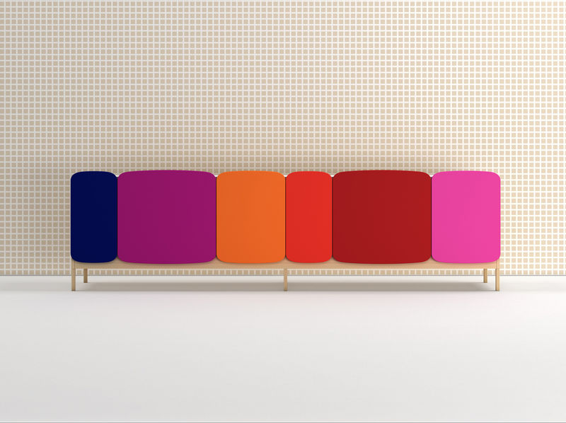 Contemporary Colorful Cabinets