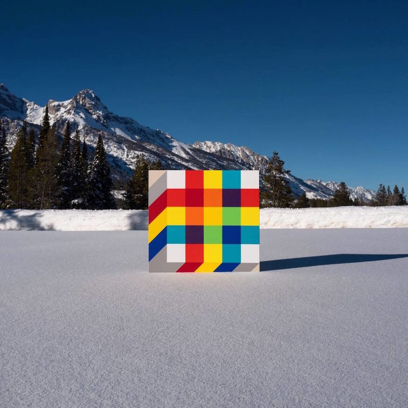 Color-Blocked Landscape Installations