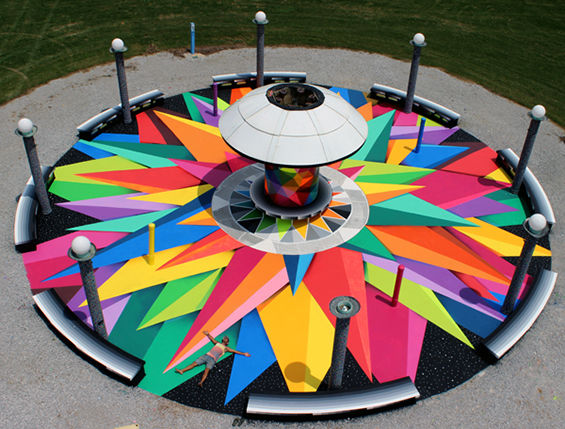 Colorful Geometric Street Art