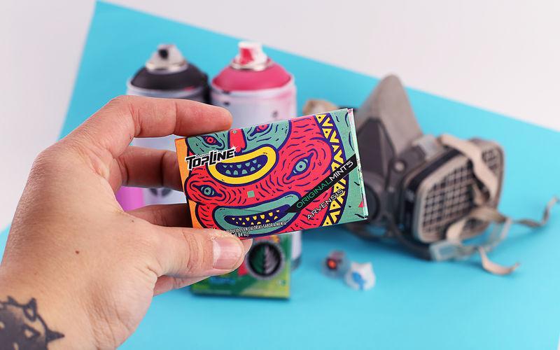 Graffiti-Inspired Mint Packaging
