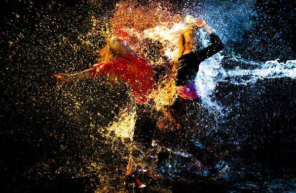 Paint-Splashed Dance Photography