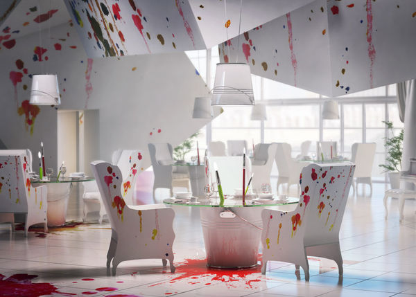 Messy Art-Themed Eateries