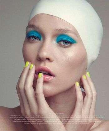 Colorful Swim Cap Editorials