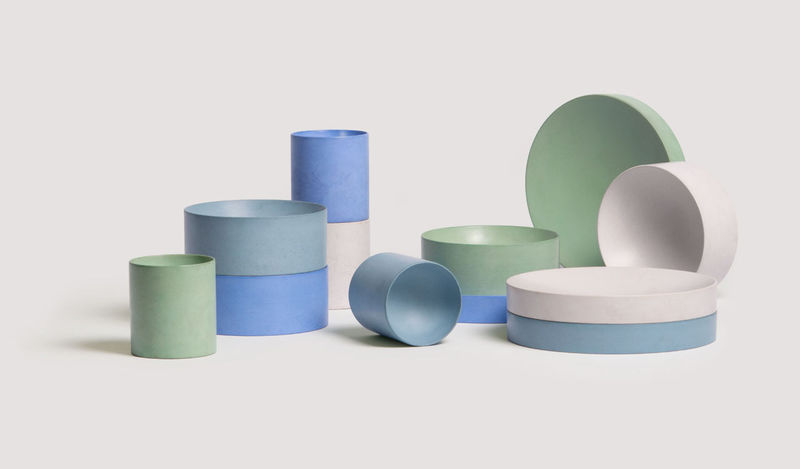 Stackable Minimalist Colorful Tableware