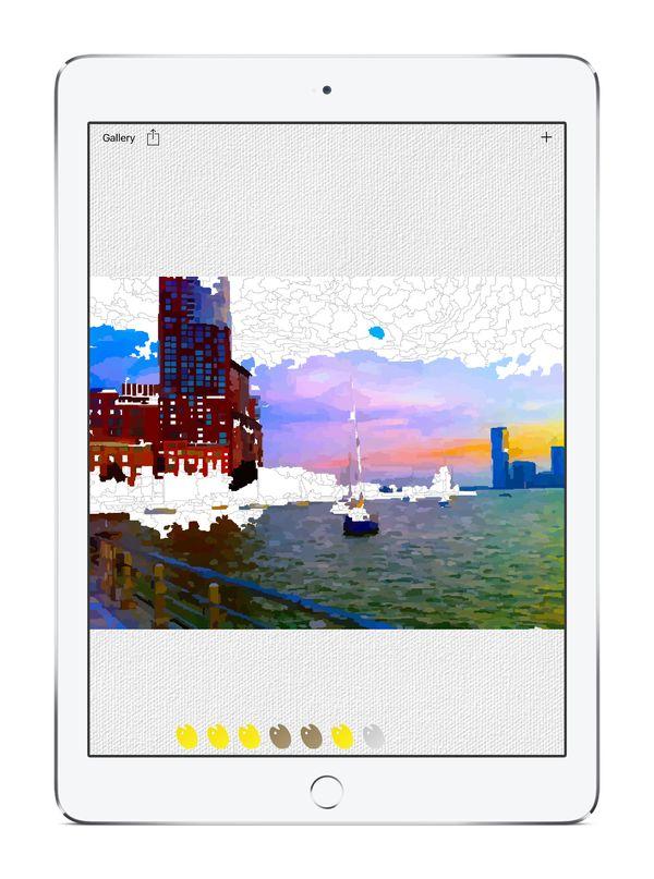 Relaxing Selfie-Coloring Apps