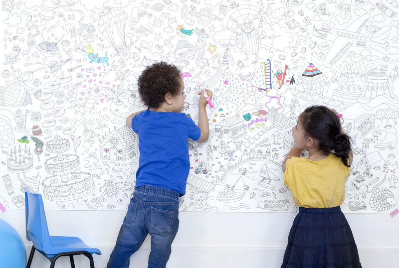 Oversized Coloring Canvases