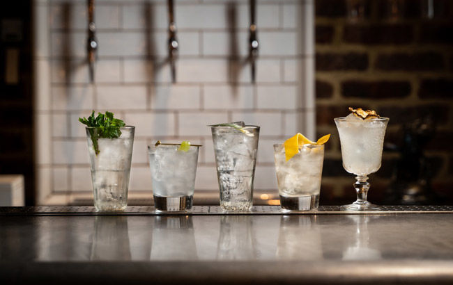 Ingredient-Focused Clear Cocktails
