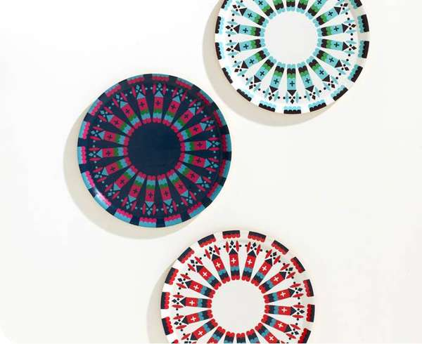 Colorful Castle-Inspired Plates