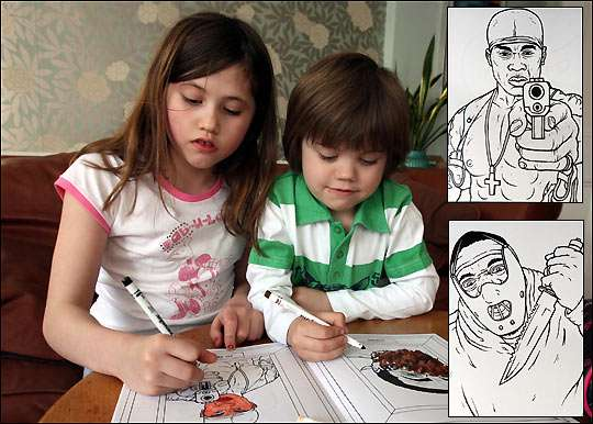 Gangster Colouring Books