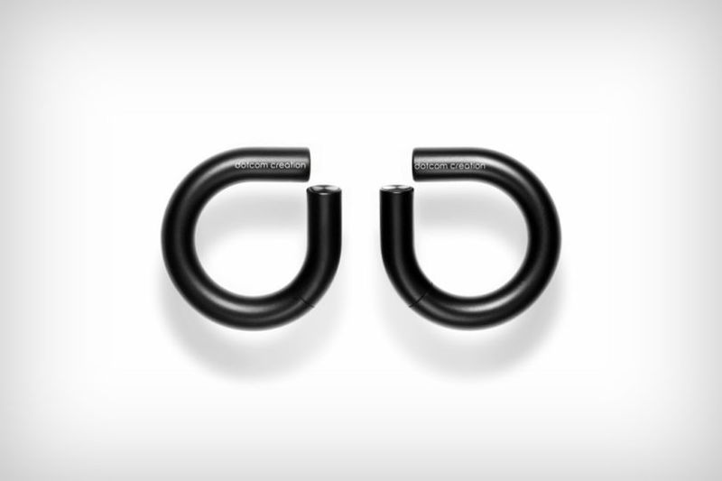 Curved Wireless Earbud Silhouettes