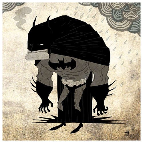 Abstract Super Hero Illustrations
