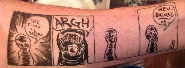 Humorous Comic Strip Tattoos
