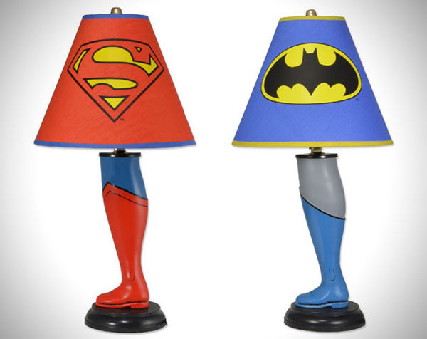 Superhero Leg Lamps