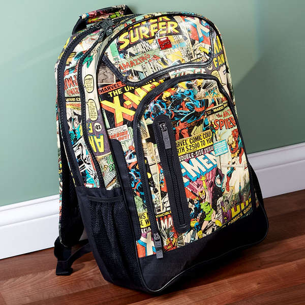Comic-Encrusted Backpacks
