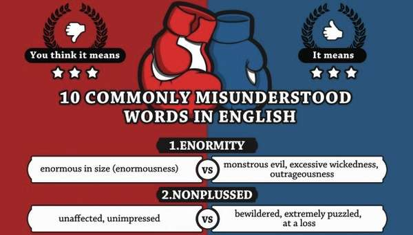 Nitpicky Word Nerd Charts Commonly Misunderstood Words Infographic
