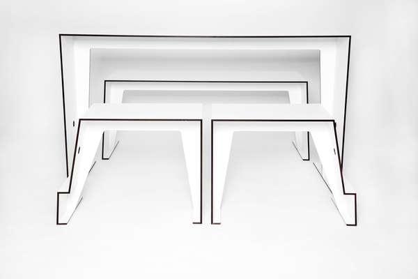 Sleek Stackable Furniture