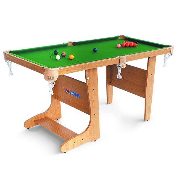 Compact Pool Tables: The Oakdale Folding Snooker Table Is