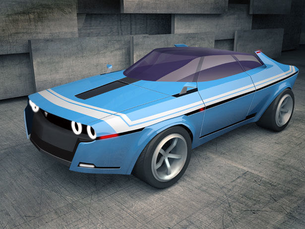Modernized Retro Sports Cars Concept Sports Car