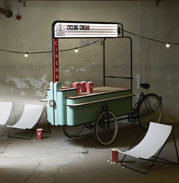 Open-Air Bike-Equipped Cinemas