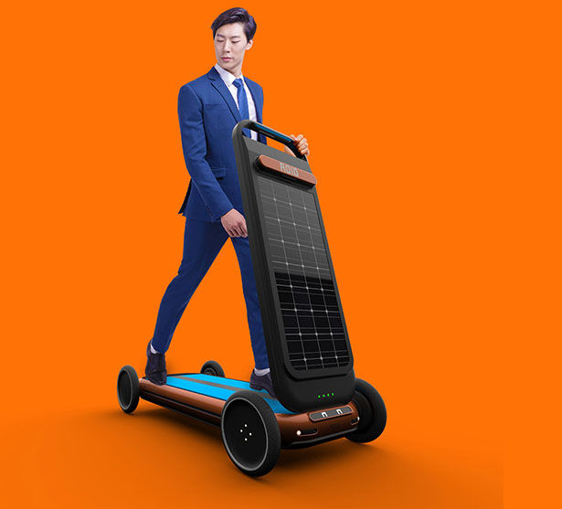 Solar-Powered Treadmill Scooters