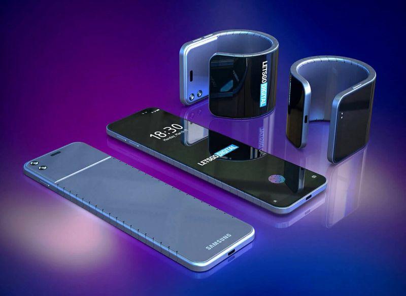 Bendable Wrist Cuff Smartphones