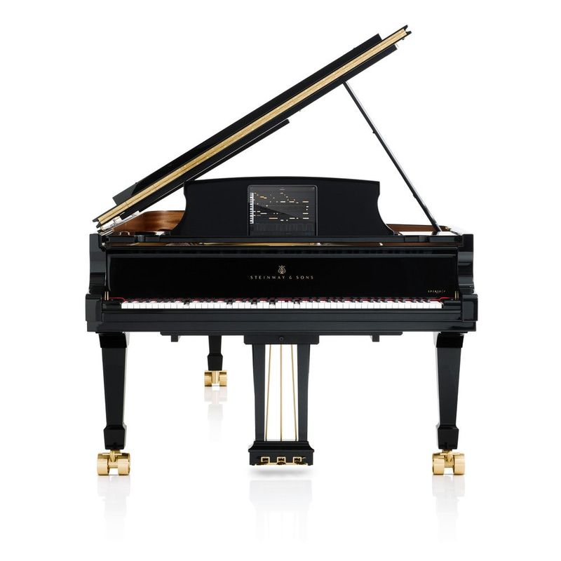Tablet-Connected Concert Pianos