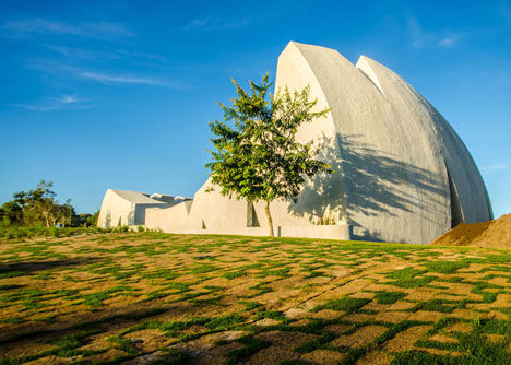 Shell-Shaped Concrete Auditoriums