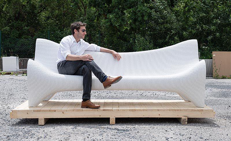 3D-Printed Concrete Furniture
