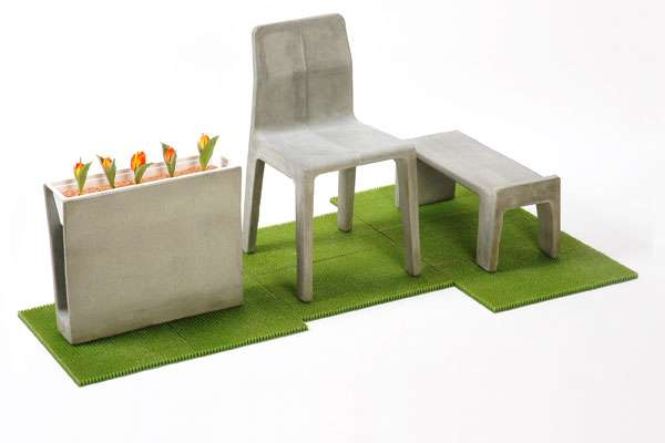 Cement Patio Sets Concrete Furniture