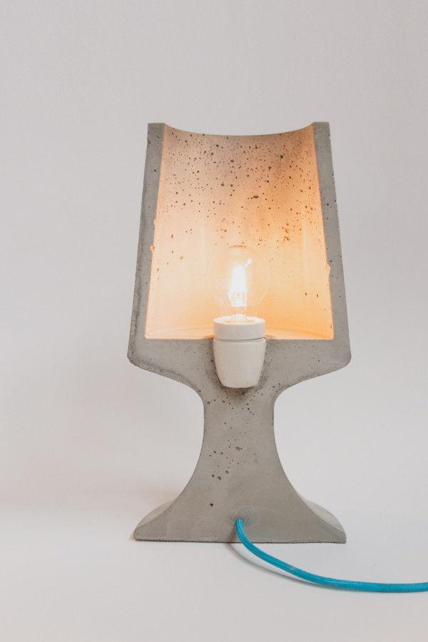 Sliced Concrete Lamps : concrete lamps