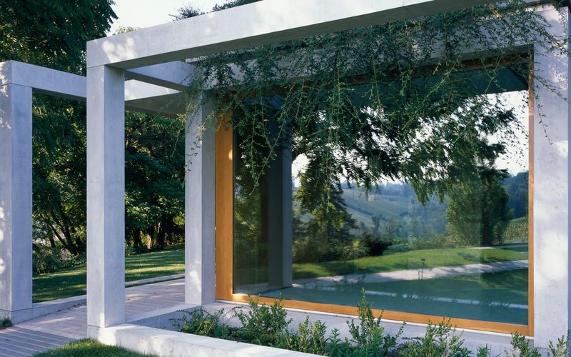 Stunningly Lush Concrete Pergolas